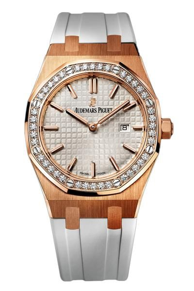 Audemars Piguet Royal Oak Rose Gold Diamond Quartz 33mm