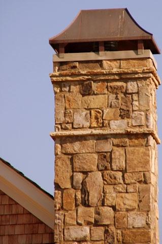 Mitch Ginn Design For Chris Parrott Homes Stone Chimney