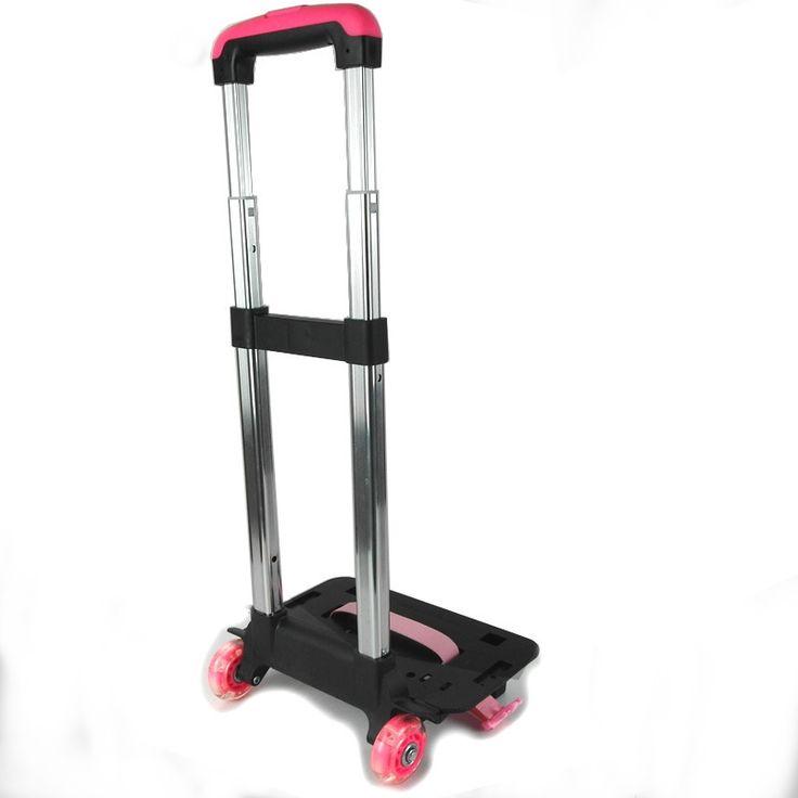 (29.38$)  Buy here - http://aikg2.worlditems.win/all/product.php?id=32741025643 - 2 Wheel Fold Pull Rod Bracket Roll Cart Trolley School Bags Mochila Infantil Rodinha Mochilas School Kids Flash Wheels