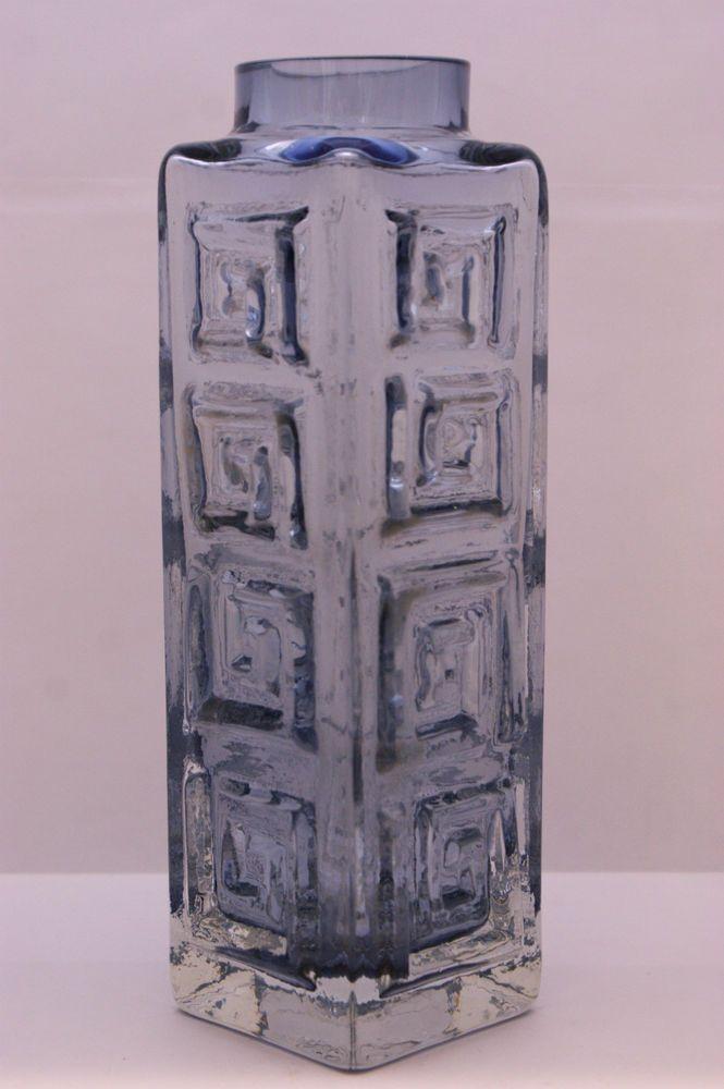 Genuine Whitefriars Glass Greek Key Vase in Lilac Designed by G Baxter sold June 14 138