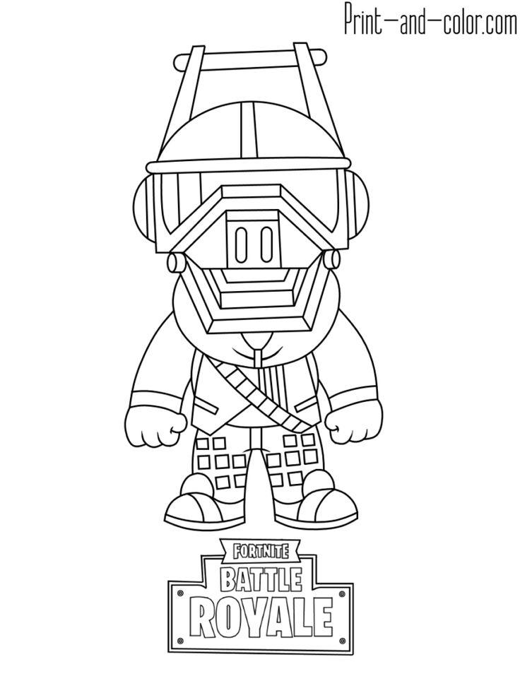 Fortnite Battle Royale Coloring Page Dj Yonder Fortnite