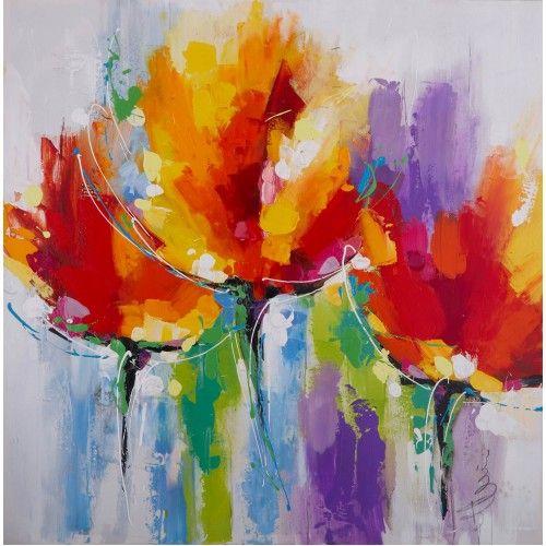 bloemen schilderij abstract - Google zoeken