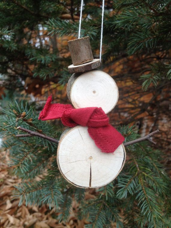 Rustic Snowman ornament