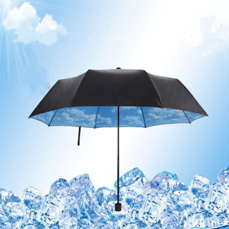 3PCS blue sky and white clouds folded creative anti UV umbrella, 3 Folding Gift Parasols Rain Umbrellas For Women Men-in Rain Gear from Home, Kitchen & Garden on Aliexpress.com | Alibaba Group