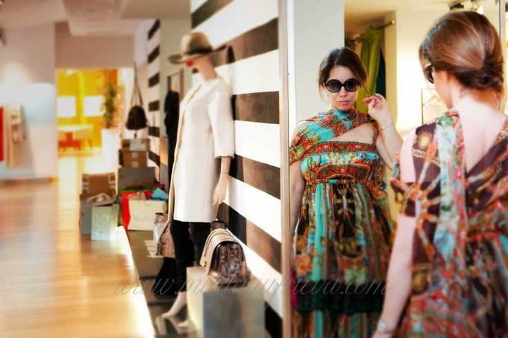 @Mila Anufrieva trying on the latest and amazing collections at #Boutique Griffe at #Forte_ Village #FVexperience