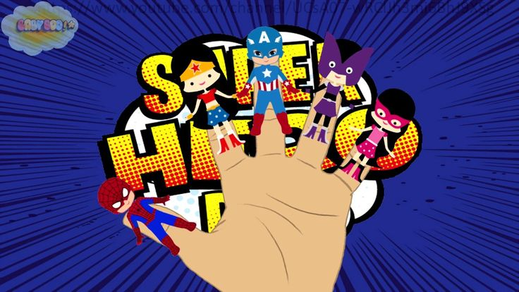 Finger family song superhero, Nursery Rhymes, video for children