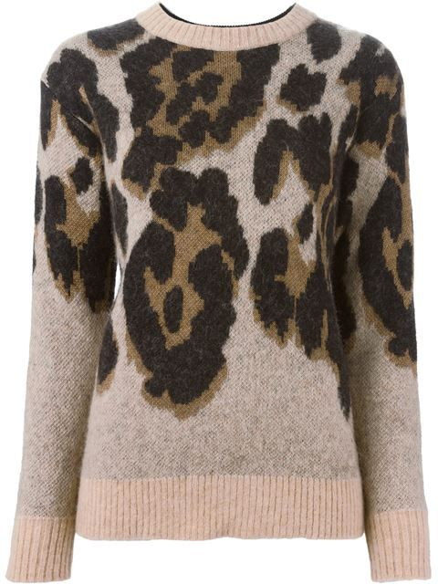 свитер с леопардовым узором