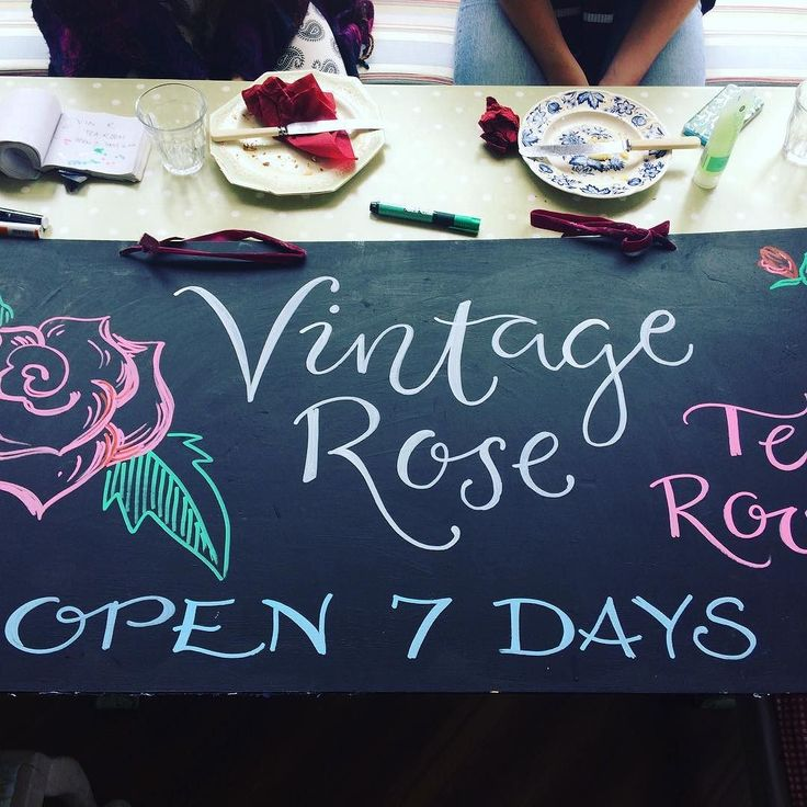 @vintage rose cafe #storrington #chalkboards