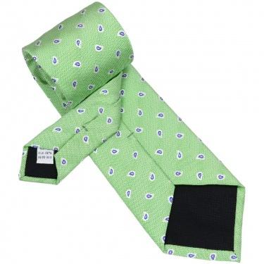 Cravata de Matase de Como, Model Casual cu Paisley - Bocane
