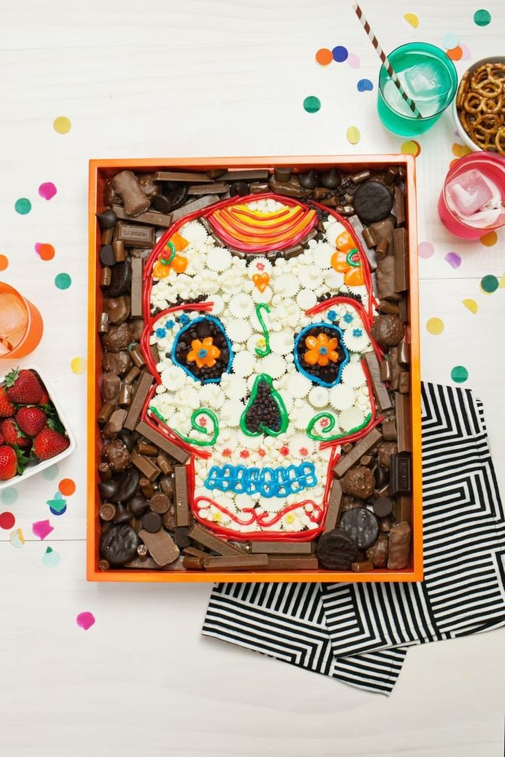 Day of the Dead party tray from A Beautiful Mess