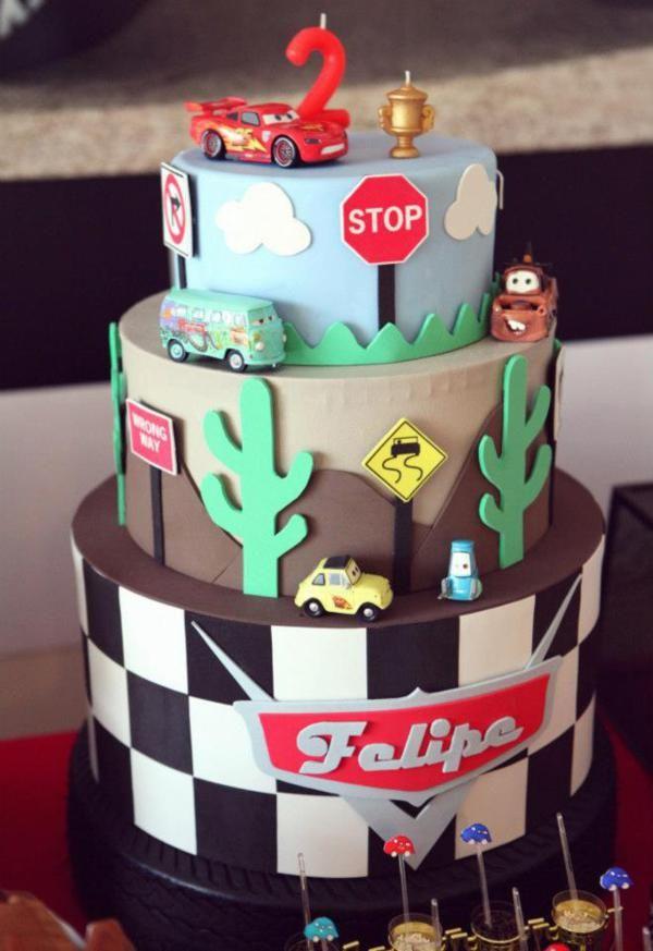 Disney Cars Birthday Cake.