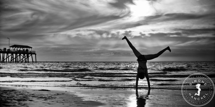 Cartwheels at sunset. I remember being this girl...this photograph makes me feel like a kid again. © Simone Hanckel Photography