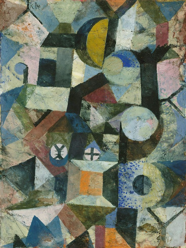 Paul Klee - Composition with the Yellow Half-Moon and the Y - 1918