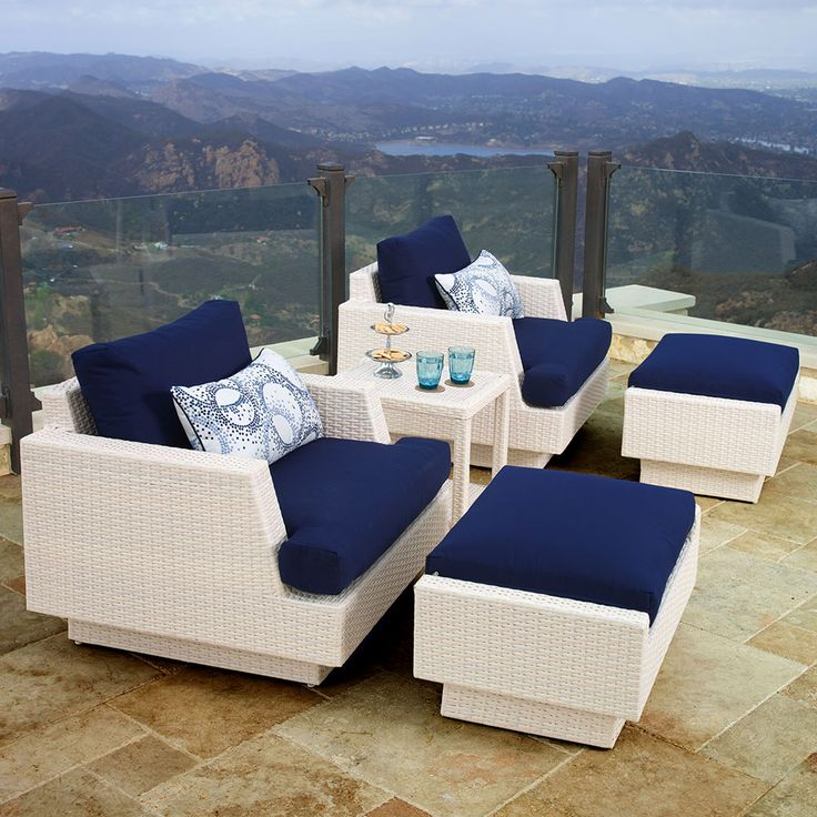 Portofino Comfort 5 Piece Club Chair Set In Chalk Offers Unparalleled  Quality, Comfort, And