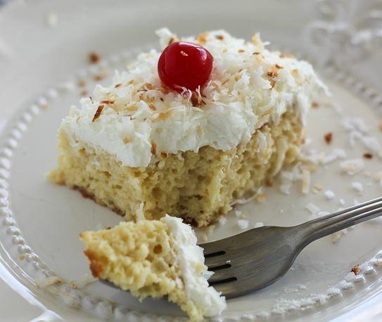 Το+τέλειο+υγρό+κέικ+με+ινδική+καρύδα+και+ζαχαρούχο+γάλα