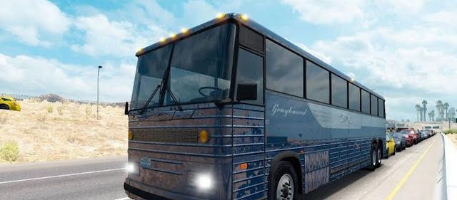 American Truck Simulator Skin Greyhound Bus for ATS Download MODs
