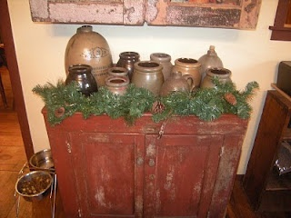 Winterberryfarm Primitives: Christmas Decorating AND Putting Your Garden To  Bed! Find This Pin And More On Dry Sink Ideas ...