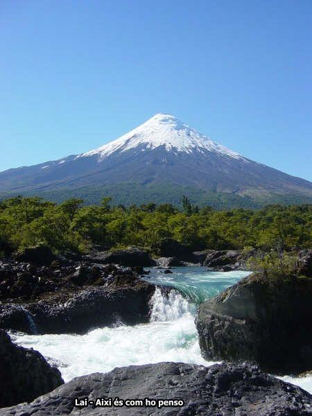 Saltos de Petrohue y volcán osorno- Región de los lagos - Chile