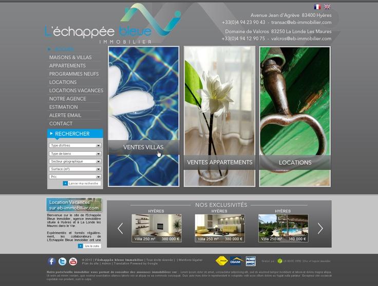 Maquette - Site l'Échappée Bleue, agence immobilière à Hyères et La Londe les Maures