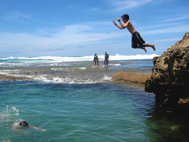 Sorrento Back Beach, Rock Pool Jumping, Mornington Peninsula