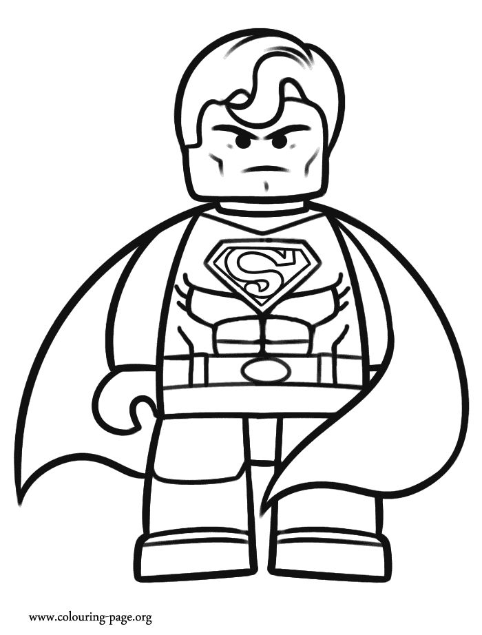 superman the lego movie coloring page - Colouring Pages To Print