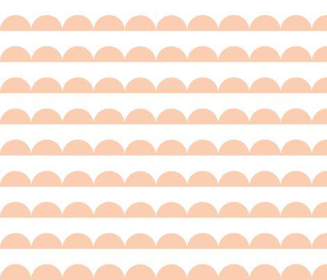 blush scallop fabric by charlottewinter on Spoonflower - custom fabric