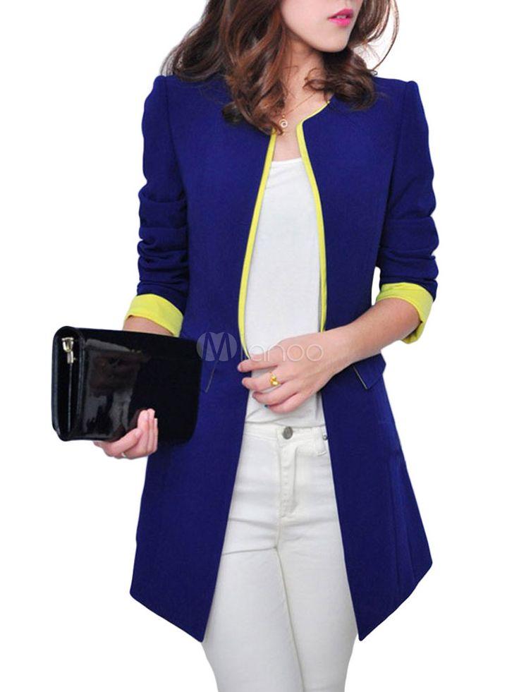 Blazer sintético para mulheres - Milanoo.com