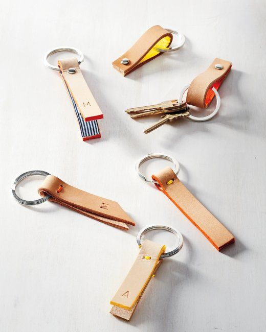 Leather-Strap Key Fob   Step-by-Step   DIY Craft How To's and Instructions  Martha Stewart