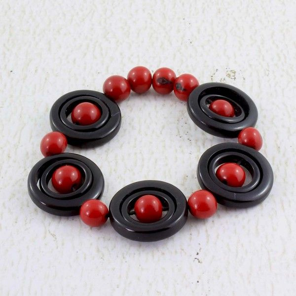Black and Red Bracelet