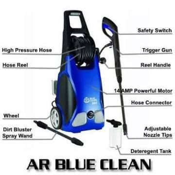 AR Blue Clean AR383 1900PSI 1.5GPM 14Amp Electric Pressure Washer | Top Pressure Washers