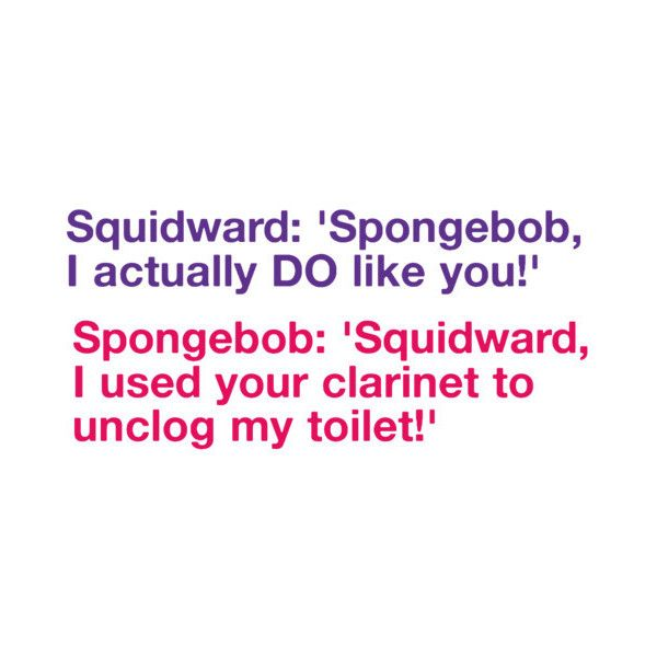 SpongeBob Quote:) liked on Polyvore
