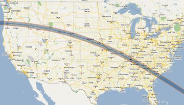 Total Solar Eclipse, Monday, August 21, 2017 - Map of the Path of Totality (more on the click through!)
