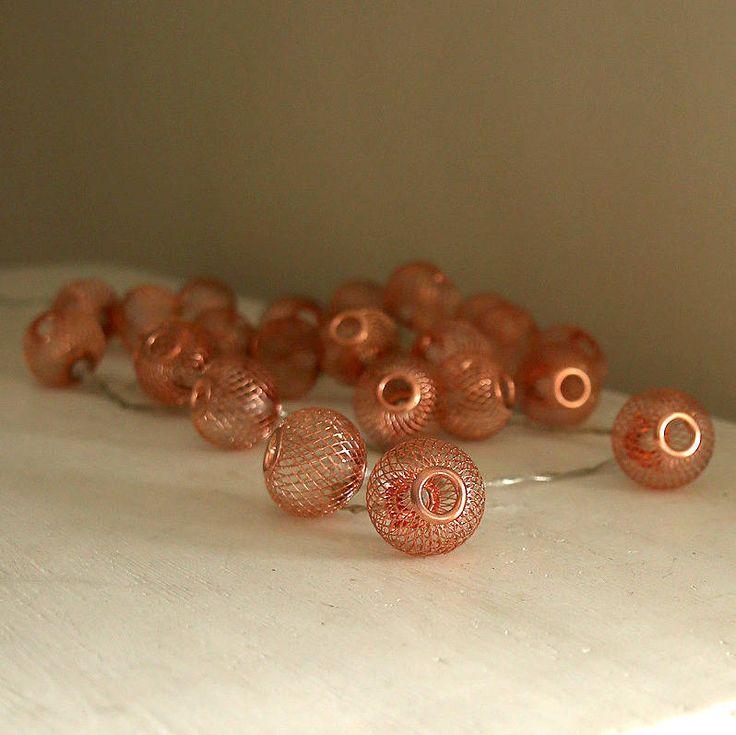 Copper Sphere Light Garland