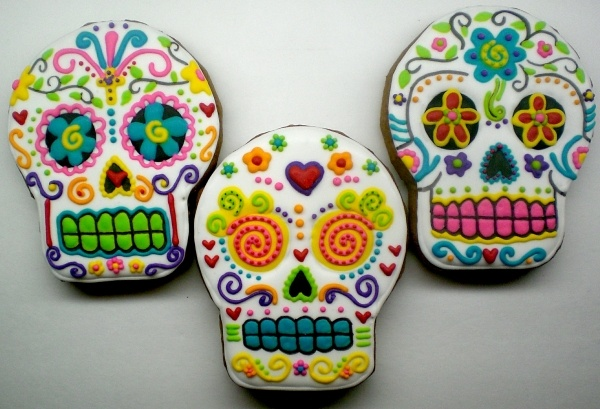 .Day of the Dead cookies- beautiful!