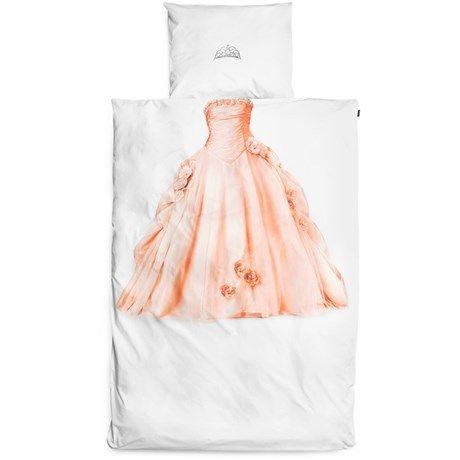 Morsomt sengesett for enkeltseng med prinsessemotiv!