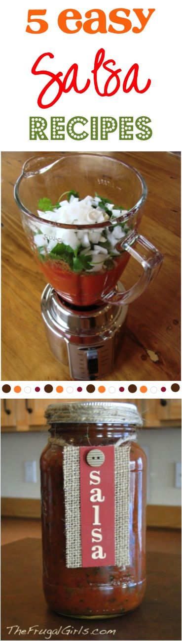 Easy Salsa Recipes! ~ Great appetizer for summer parties!