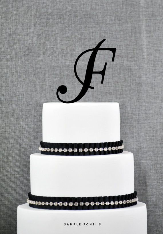 Personalized Monogram Initial Wedding Cake by ChicagoFactory, $15.00