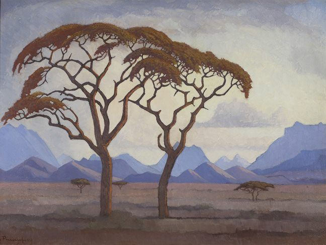 Jacobus Hendrik Pierneef, South African Landscape painter 1886-1957
