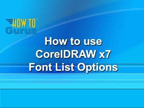 How to use Font List Options - CorelDRAW x7 Text Effects Tutorial