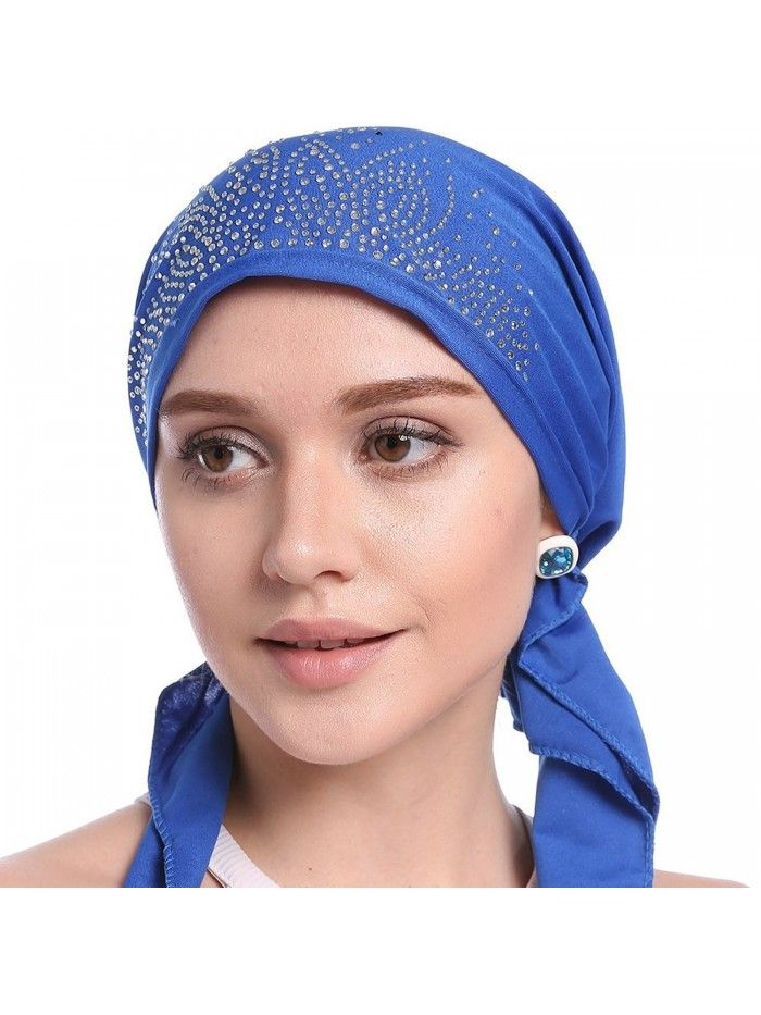 7d9acf64d2b13 Buy Womens Chemo Hat Beanie Pre Tied Head Scarf Turban Headwear for Cancer  Patients - Navy Blue - C318678G3K0 and Other Fashion Hats