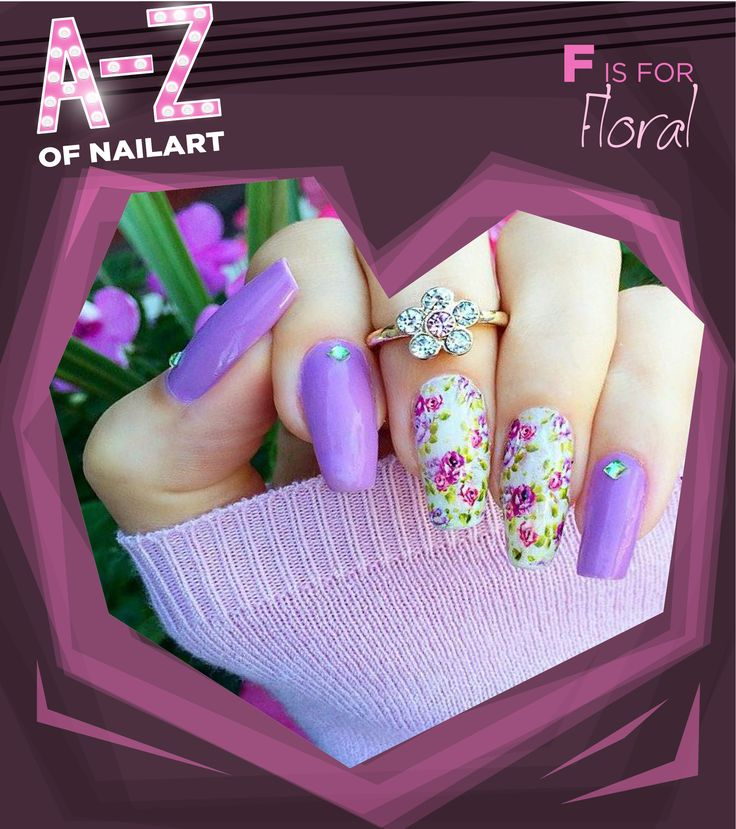 F is for Floral #A-ZNailArt