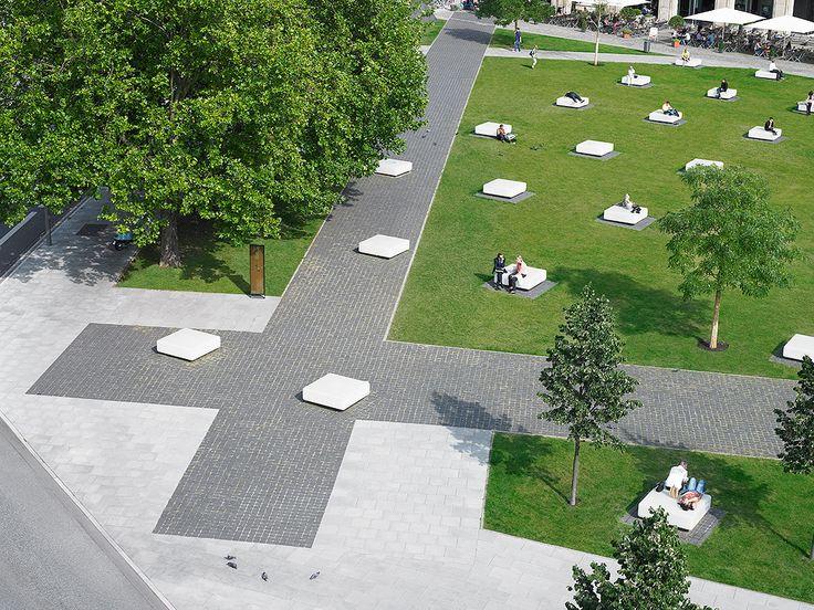 Hamburger Domplatz, Hamburg, Germany by Breimann & Bruun Landscape Architects