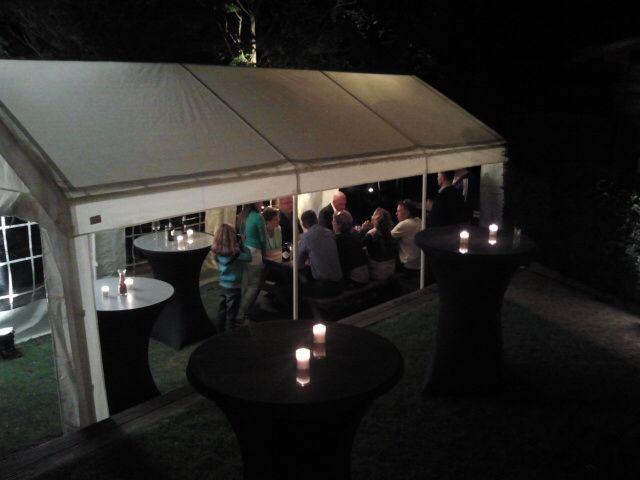 Feest tent 3x6 tijdens 50ste verjaardag. Huren op www.cateringenpartyverhuur.nl