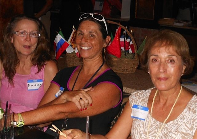 Marianna Janz-Wecke, Karen Zaremba & Carmen Meckman at the Tsunami Meet & Greet in downtown Sarasota in November 2013