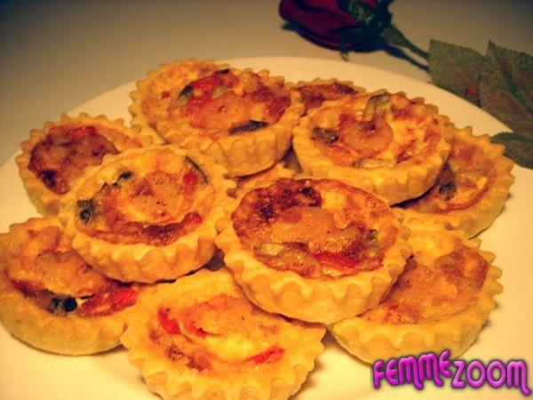 recette Petits tarte aux crevettes et crème fraîche : Recette tarte, Cuisine Femme Zoom, Recettes de cuisine ...