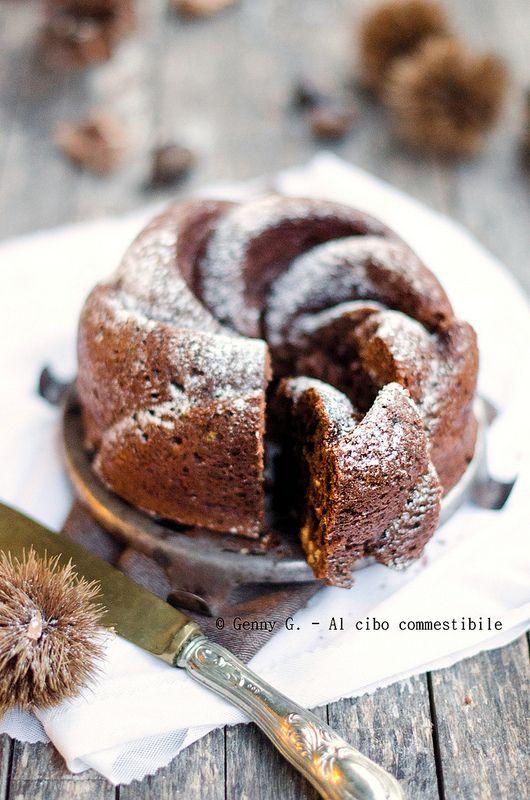 La pazienza. Ripagata. Da una torta al cioccolato con le castagne.