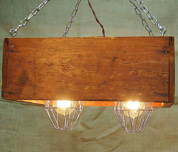 Repurposed Wood Box Hanging Light Recycle L& by ArtAngelsMarket $125.00 & 21 best Professional Spaces images on Pinterest | Ceilings Colors ... azcodes.com