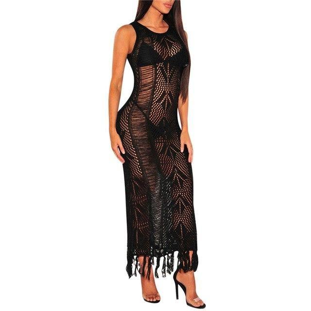 Crochet Women Bikini Beach Cover-Up Swimsuit Covers Up Bathing Suit Summer Beach Wear Pareo Swimwear Dress Tunic Robe A Asian M 3