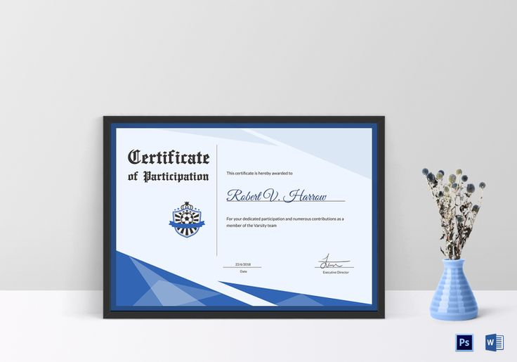 Football Award Certificate Template  $9.99  Formats Included : MS Word, Photoshop   File Size : 11.69x8.26 Inchs  #Certificates #Certificatedesigns #AwardCertificates