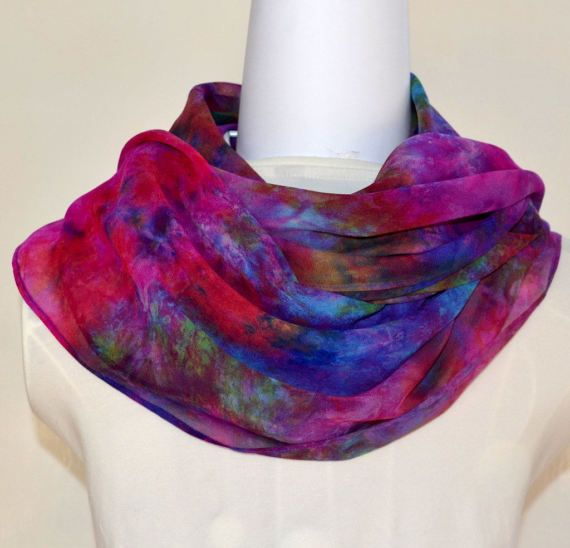 Hand Dyed Silk Scarf Square Scarf  Ready to by SallyAnnesSilks